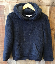 Navy Brushed Sherpa Pullover