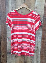 Cherry Red Stripe Top