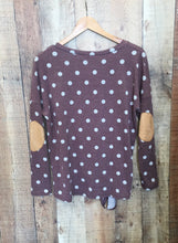 Burgundy Polka Dot V-Neck