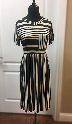 Charcoal stripe dress