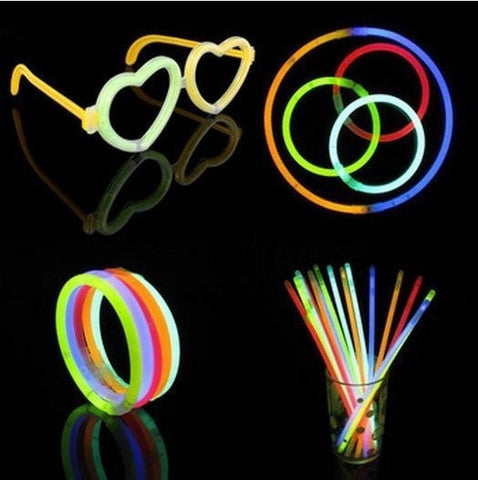Multi Color Glow Sticks + Connectors