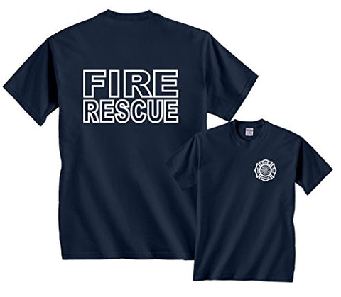 Fire Rescue Maltese Cross Firefighter Fire Rescue T Shirt - Logoz Custom T Shirts