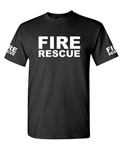 FIRE RESCUE - ems emt emergency service - Mens Cotton T-Shirt - Logoz Custom T Shirts