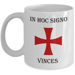 Logoz USA - In Hoc Signo Vinces Knights Templar Masonic Coffee Mug - Logoz Custom T Shirts