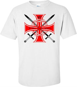 Knights Templar In Hoc Sign Vinces T Shirt - Logoz Custom T Shirts