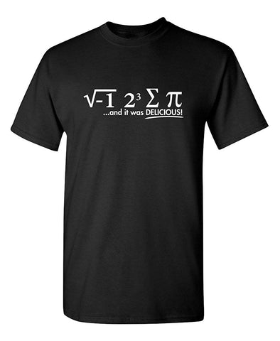 I Ate Some Pie And It Was Delicious Math Sarcastic Humor Funny Graphic T Shirt - Logoz Custom T Shirts - Logoz Custom T Shirts