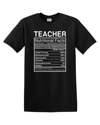 Teacher Facts Adult Humor T-Shirt - Logoz Custom T Shirts - Logoz Custom T Shirts