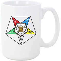 Logoz USA - Order of the Eastern Star Masonic Coffee Mug OES - Logoz Custom T Shirts