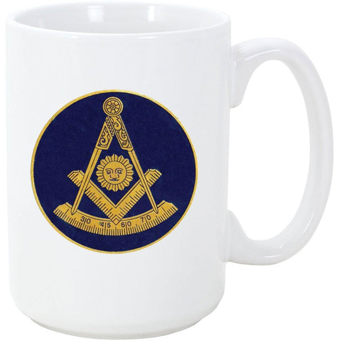Logoz USA - Past Master Mason Masonic Coffee Mug - Logoz Custom T Shirts