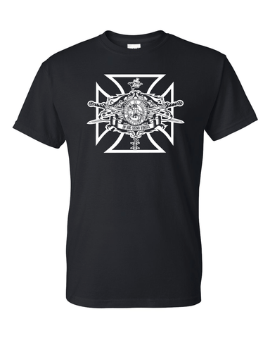 Knights Templar T Shirt Swords Seal Logo - Logoz Custom T Shirts