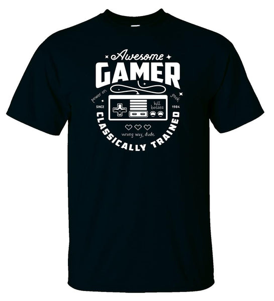 Awesome Gamer Classically Trained - Logoz Custom T Shirts