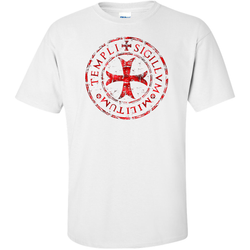 Knights Templar T Shirt Distressed - Logoz Custom T Shirts