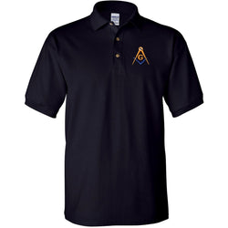 Mason Blue Lodge Polo Golf Shirt - Logoz Custom T Shirts