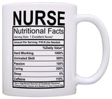 Nurse Gifts Nurse Nutritional Facts Label Nursing Gag Gift Gift Coffee Mug Tea Cup White - Logoz Custom T Shirts