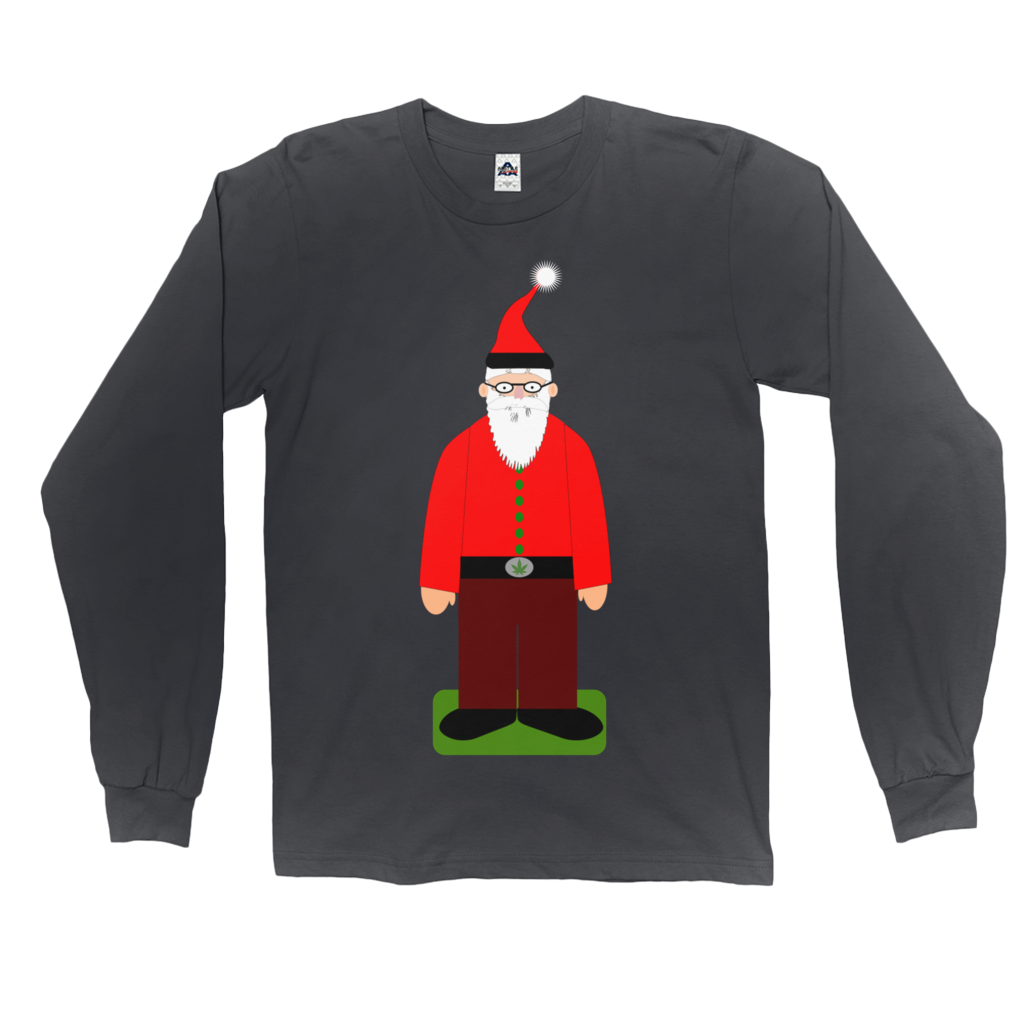 "Green ""Santa Dude"" Long Sleeve T-Shirt"