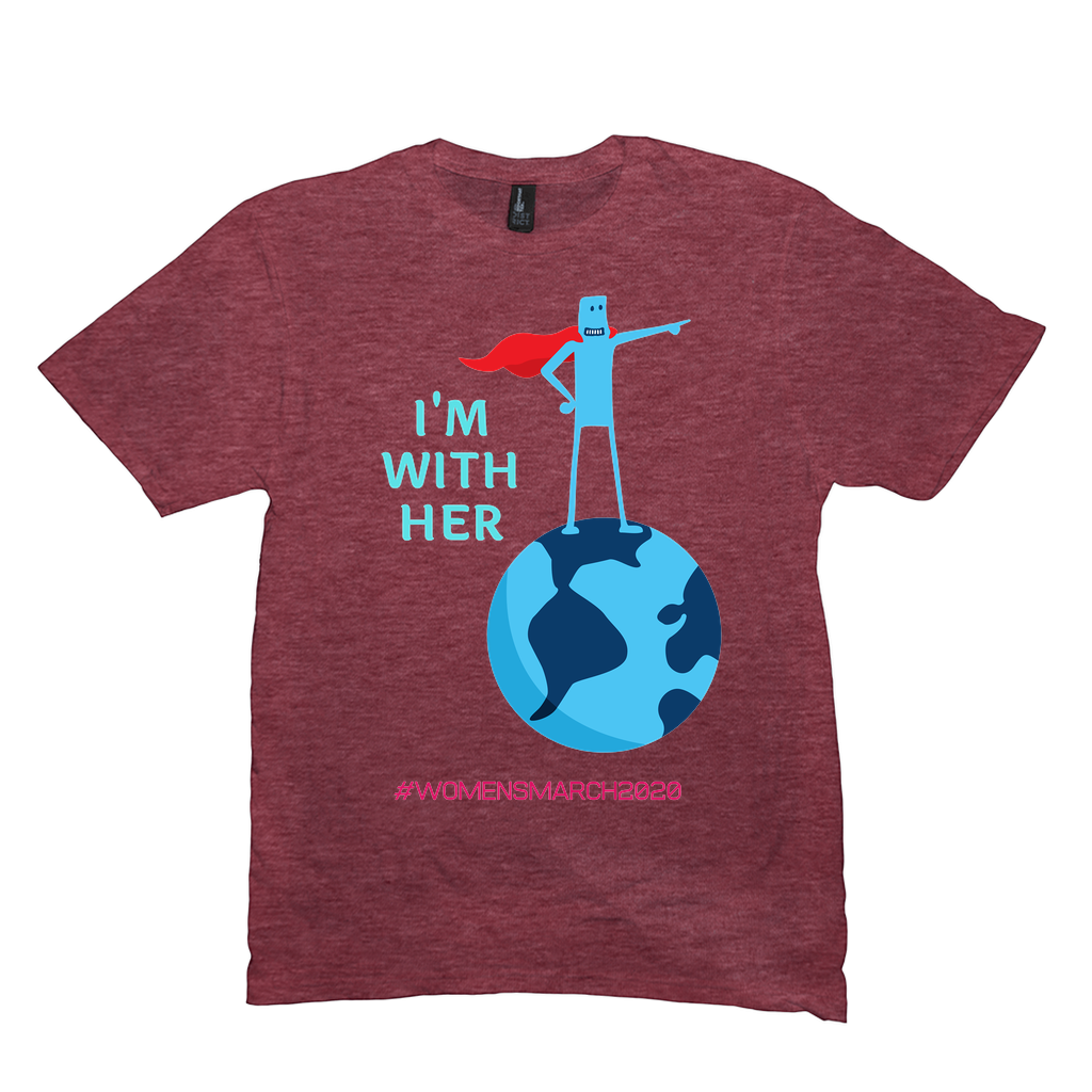 "Women's March 2020 ""I'm with HER"" Partner T-Shirt $19!"