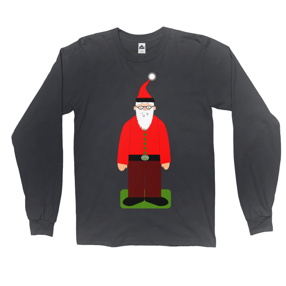 "Hippie ""Santa Dude"" Long Sleeve T-Shirt"