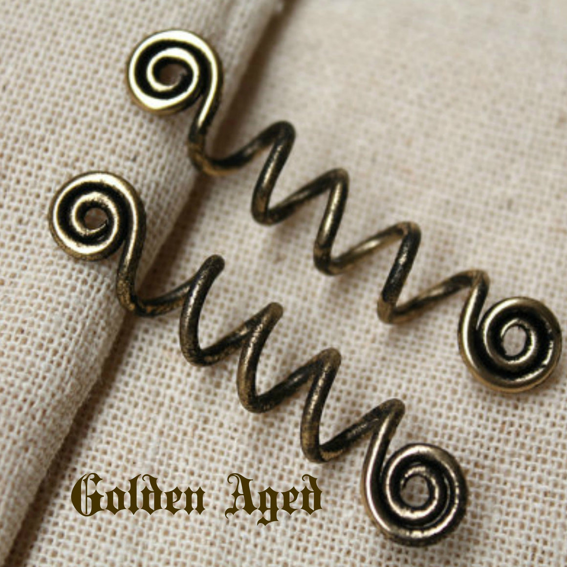 Spiral Viking Hair Beads Long