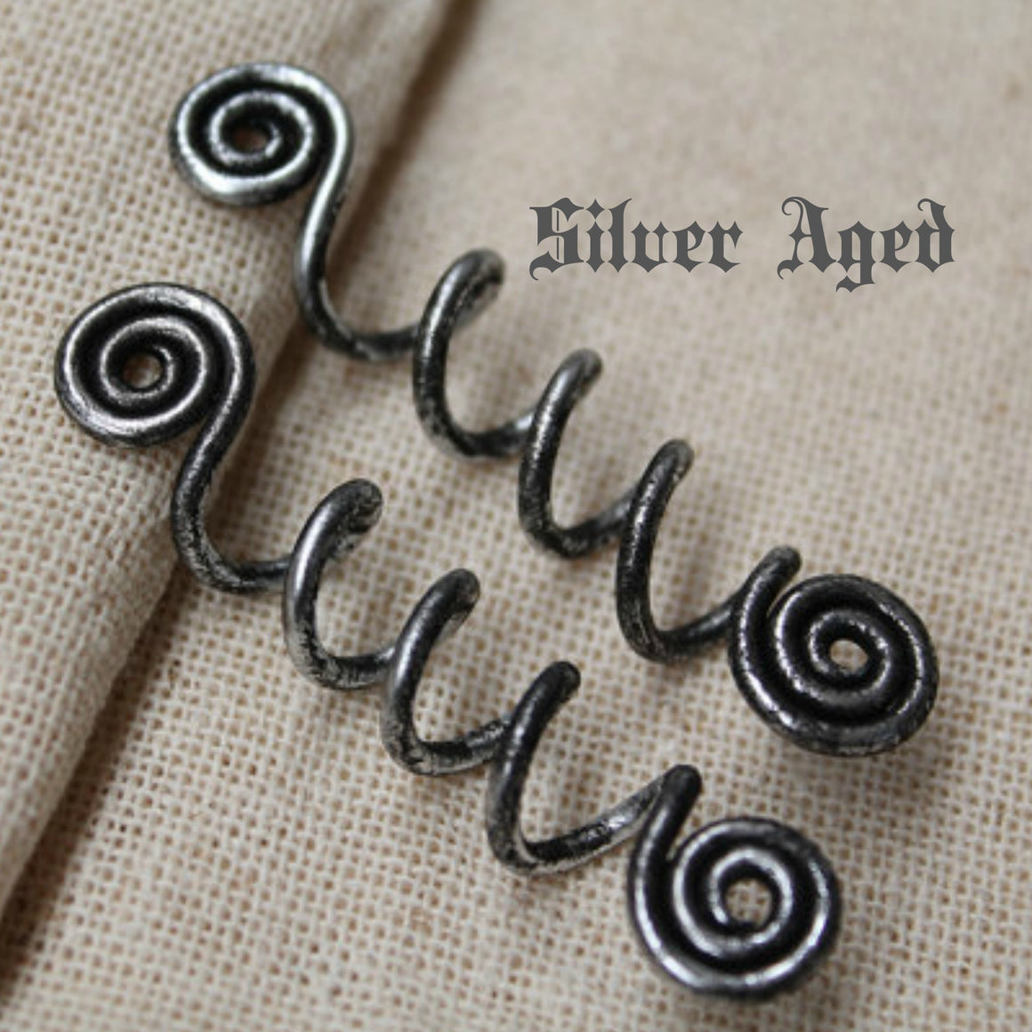 Spiral Viking Hair Bead Long