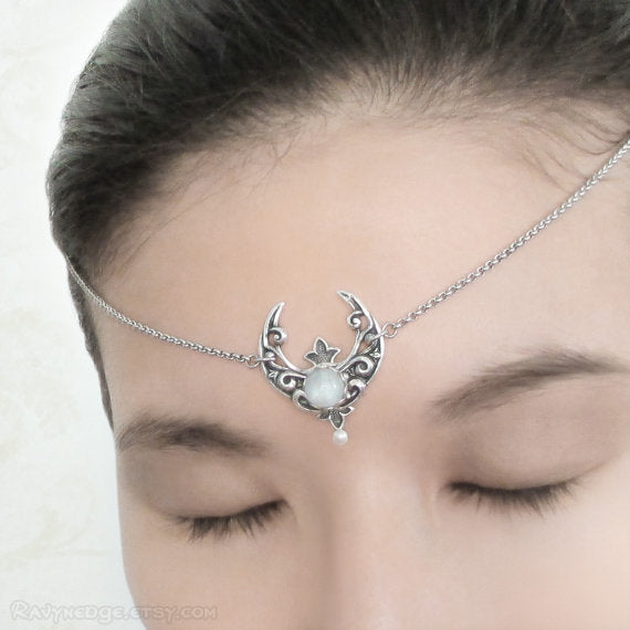 Crescent Moonstone Circlet