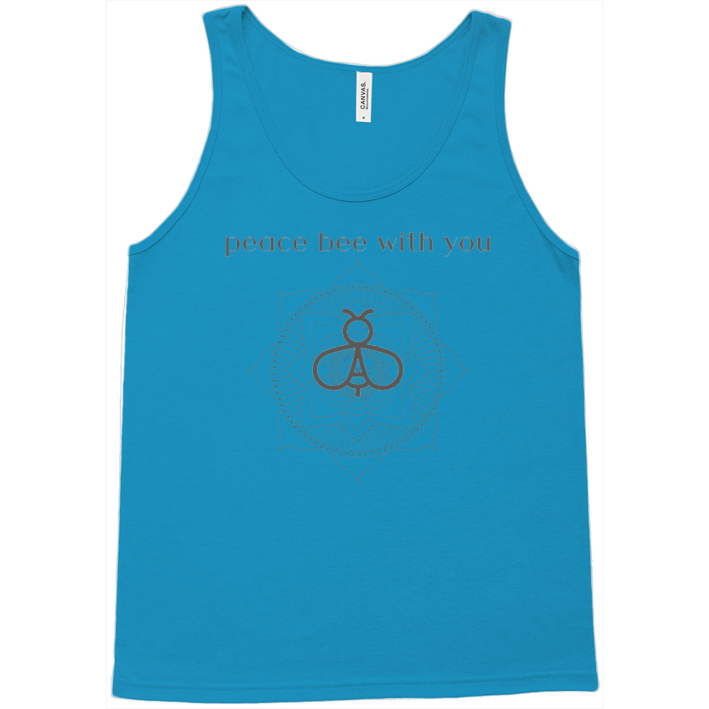 """Peace Bee with You"" Fine Jersey Tank"