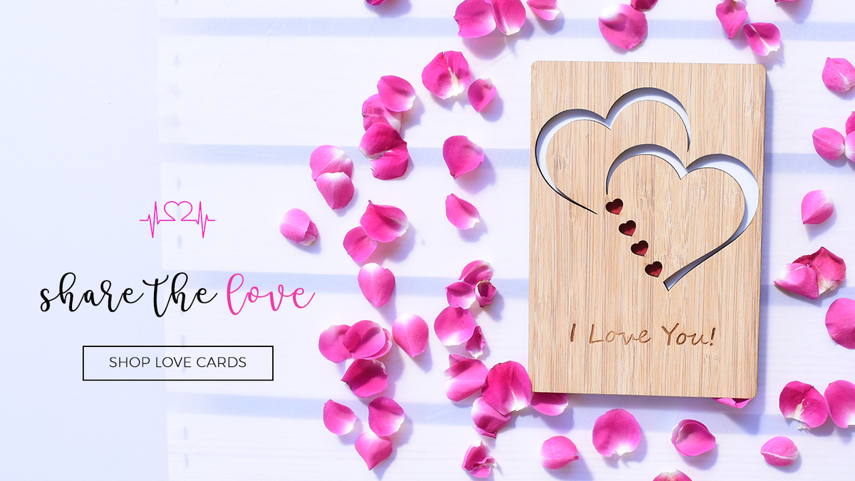 Unique Bamboo Wood Greeting Card For Any Occasion Handmade Wood Cards