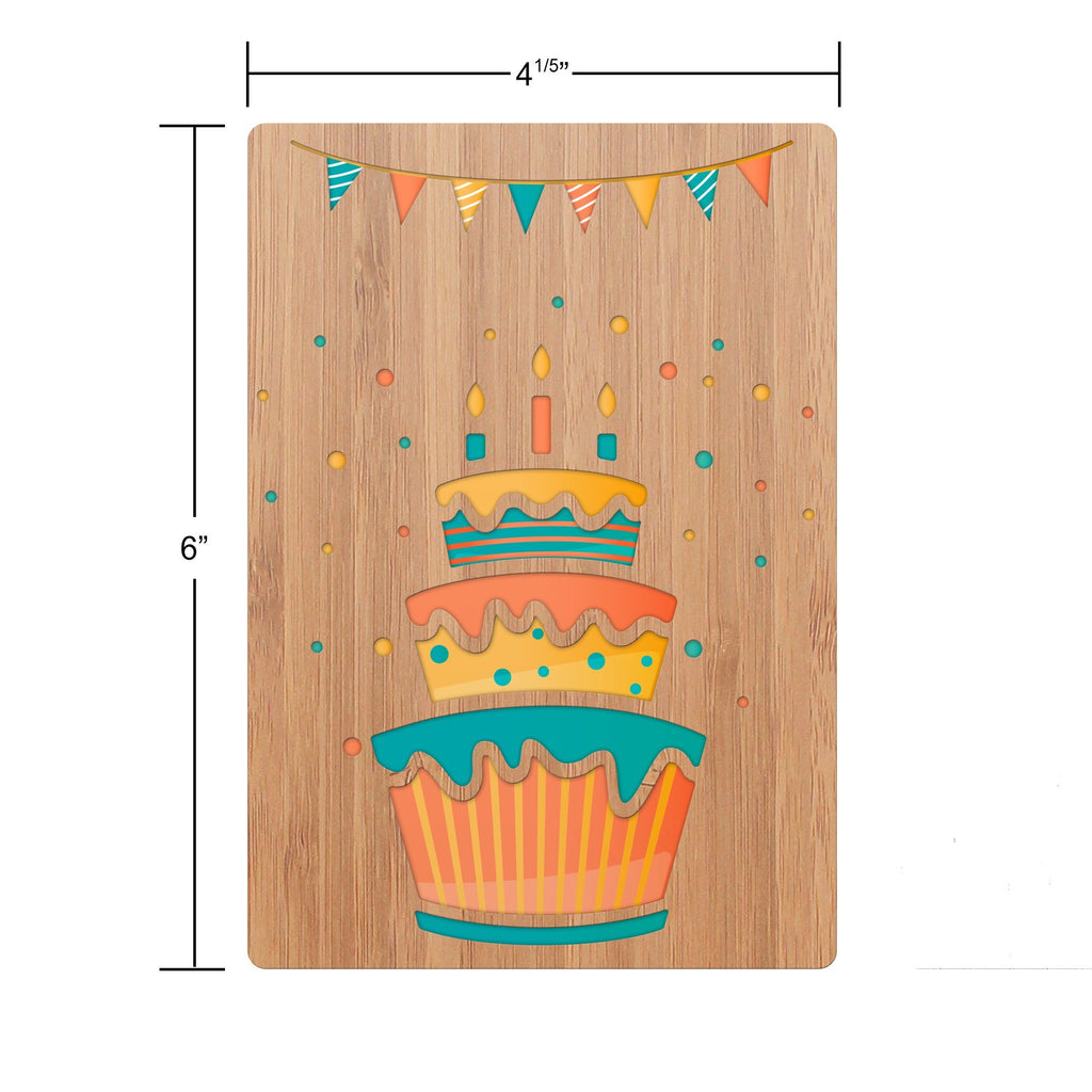 Birthday Cake & Banner Birthday Card