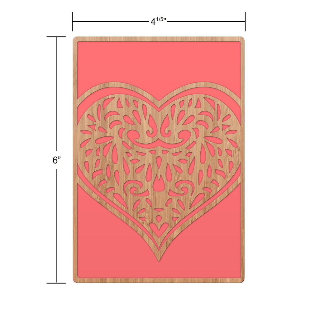 Intricate Heart Love Card