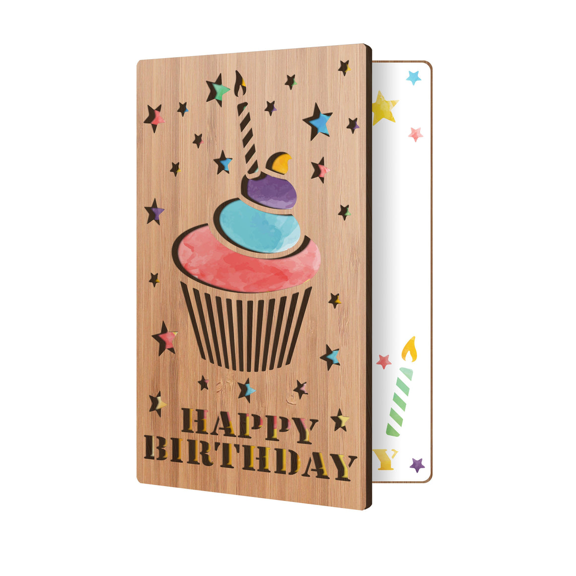 Happy Birthday Cupcake Birthday Card