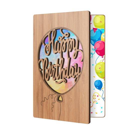 Birthday Balloon Watercolors Birthday Card