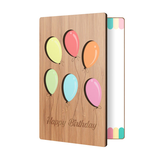 Birthday Balloons Party Birthday Card