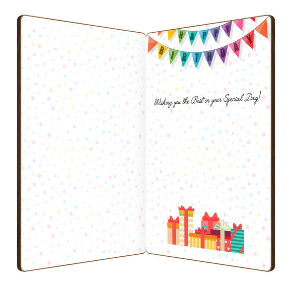 Happy Birthday Cake/Candles Birthday Card