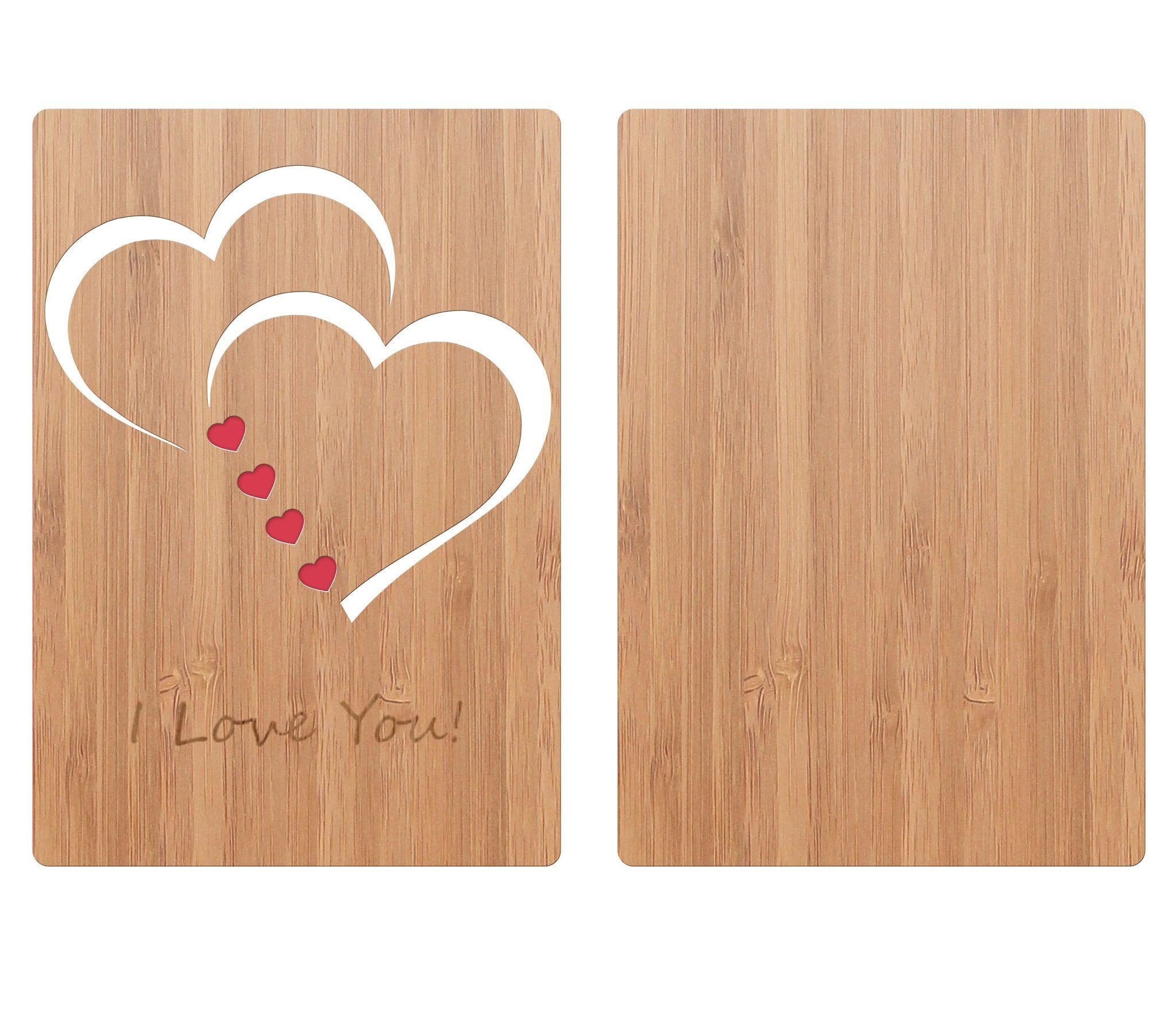 Classic hearts bamboo love card heartspace cards bamboo wood greeting card classic hearts love card back m4hsunfo Choice Image