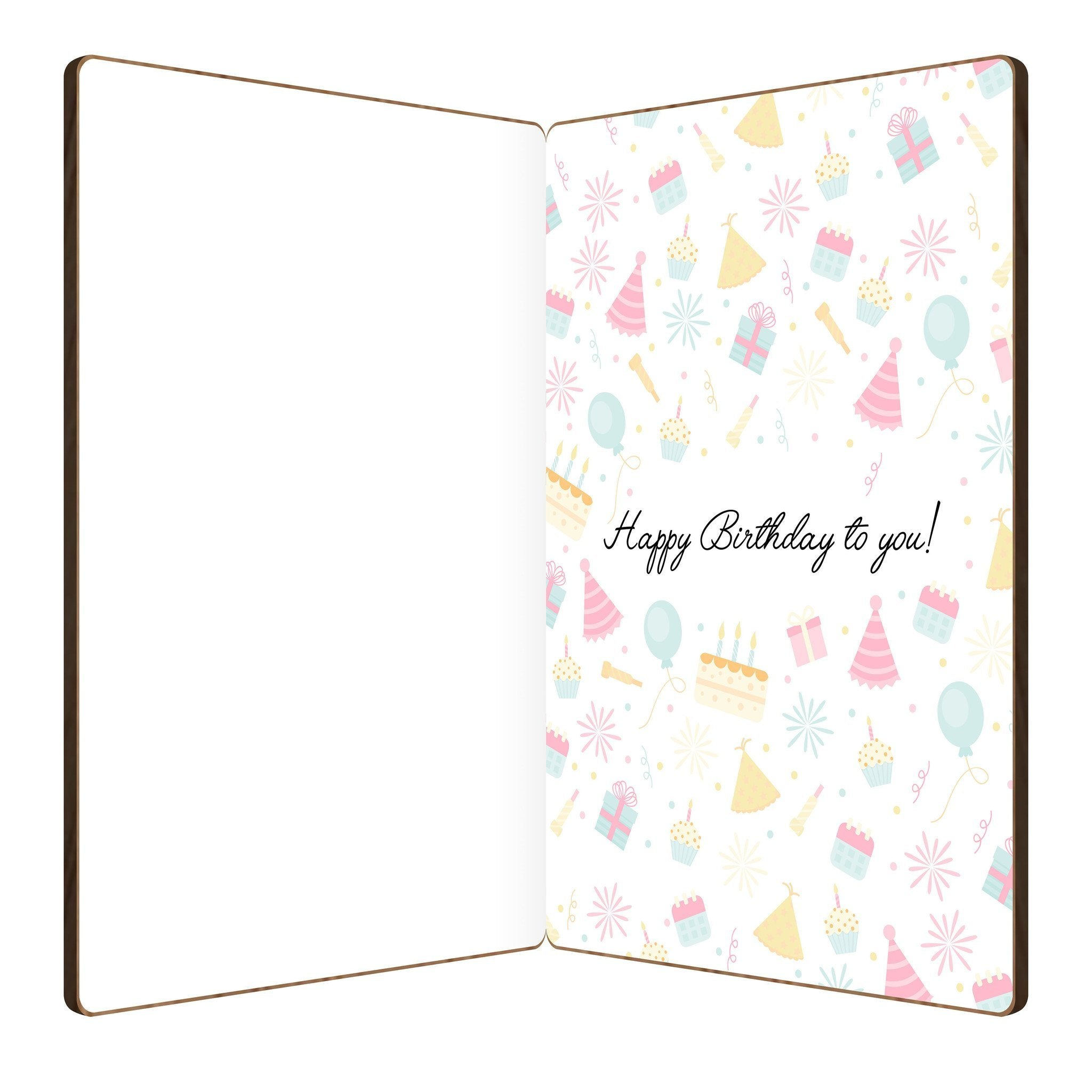 Happy birthday stars bamboo birthday card heartspace cards slightly open bamboo wood greeting card with festive birthday design and message happy birthday card m4hsunfo