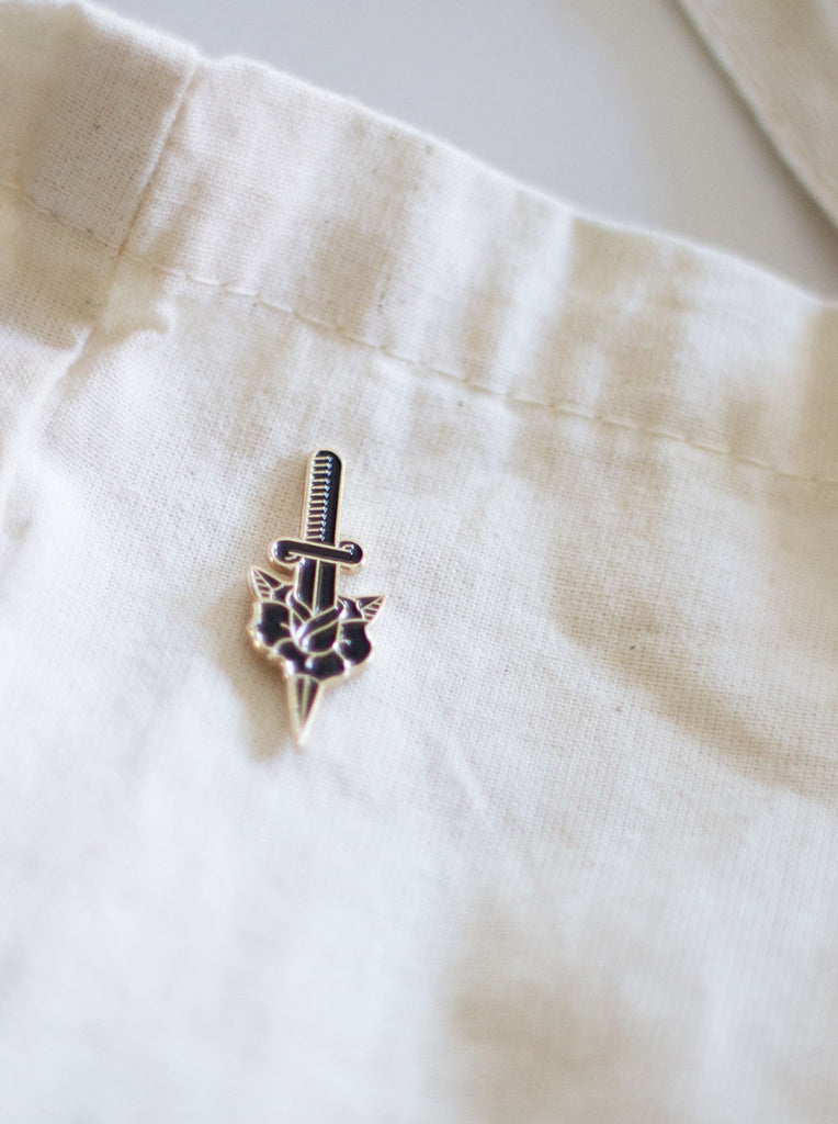 Dagger & Rose Pin