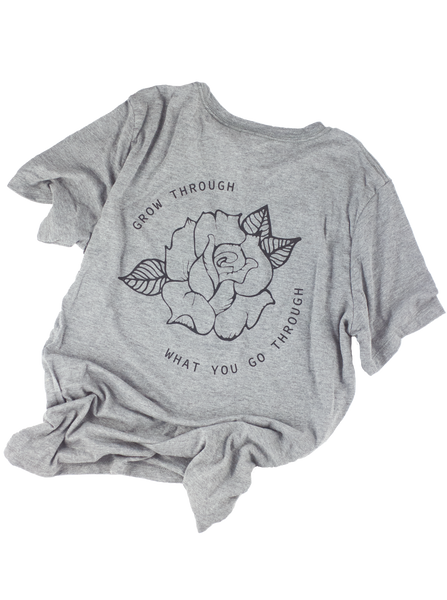 Light Grey Grow Through It Tee