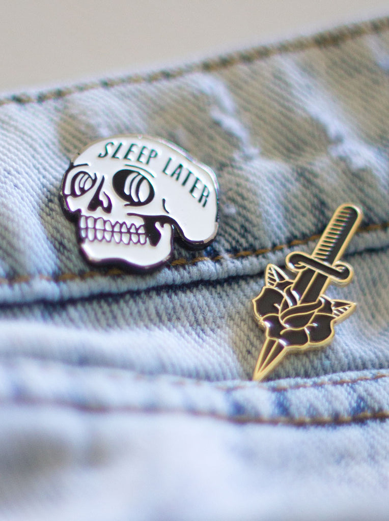 Sleep Later Pin