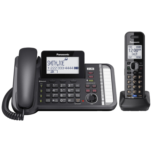 Panasonic KX-TG9581B 2-Line Corded Cordless Link2Cell