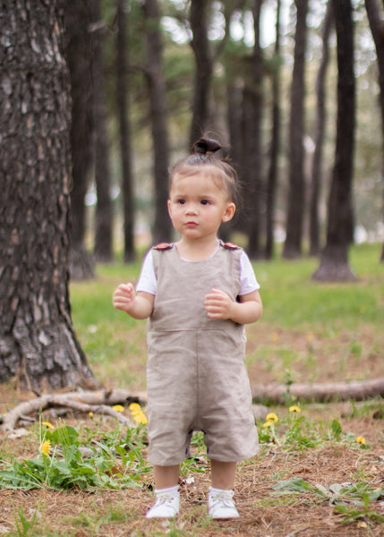 George Unisex Overalls in Taupe Grey