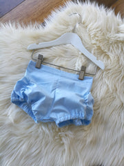 Baby Blue Pucker Shorts