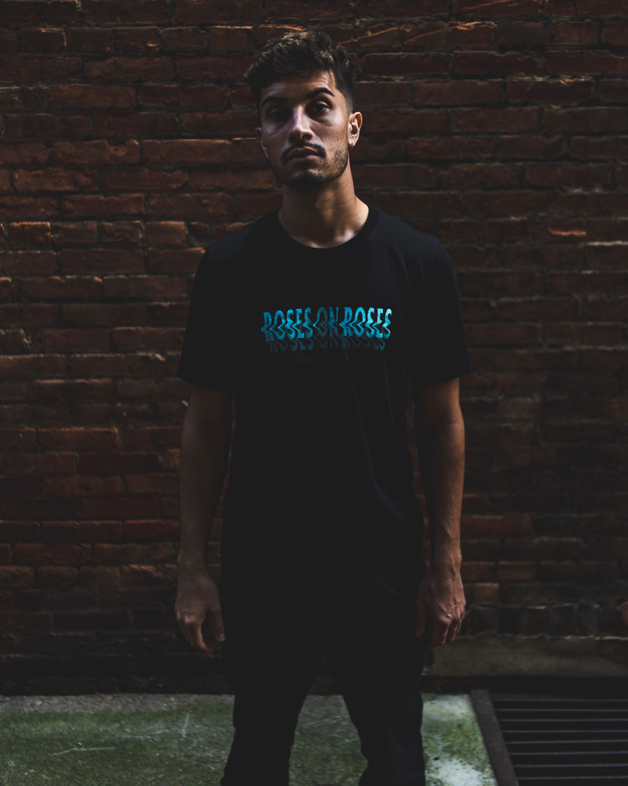 Pitch Black Wavy T-Shirt