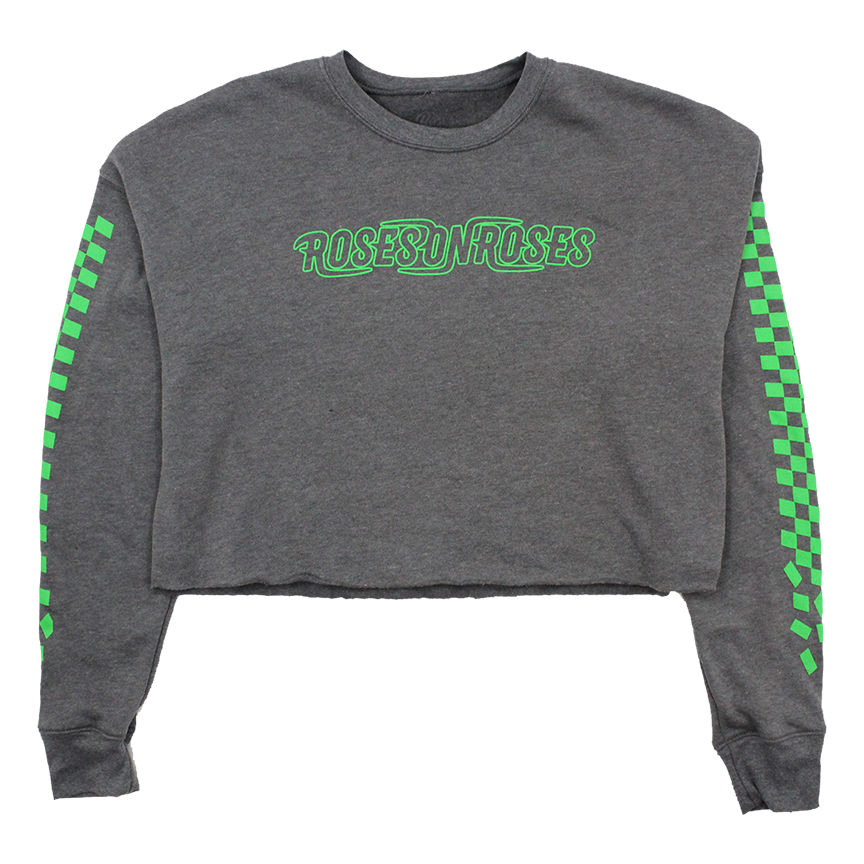 Heather Slime Crop Sweatshirt