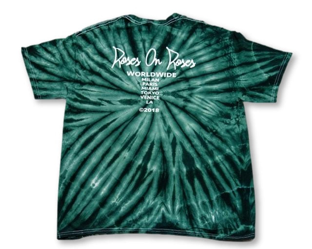 Green Tie Dye Worldwide T-Shirt