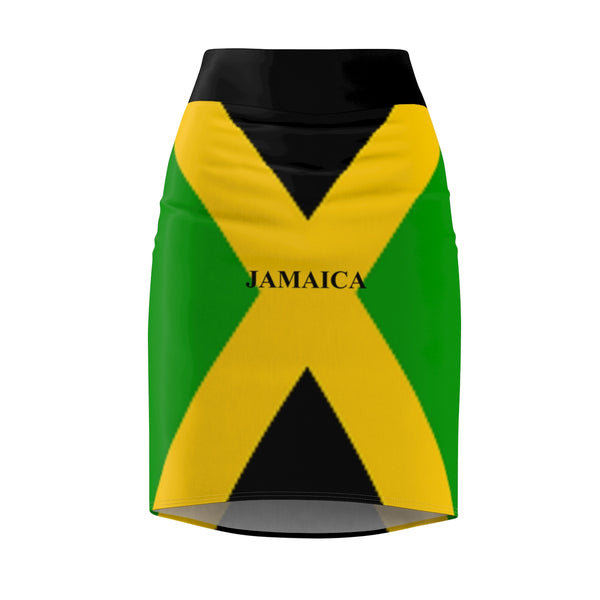 Jamaica Flag Women's Pencil Skirt