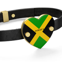 Jamaica Heart Leather Bracelet