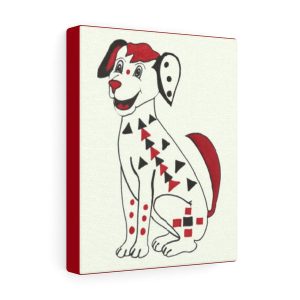 Infant Brain Stimulation Art to Develop Your Baby's Brain- Black, Red and White Dog