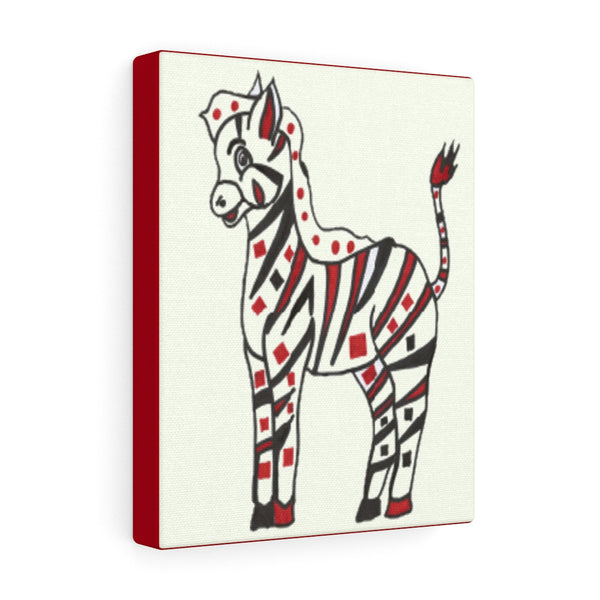 Infant Stimulation Art to Develop Your Baby's  Brain-Black, Red and White Zebra