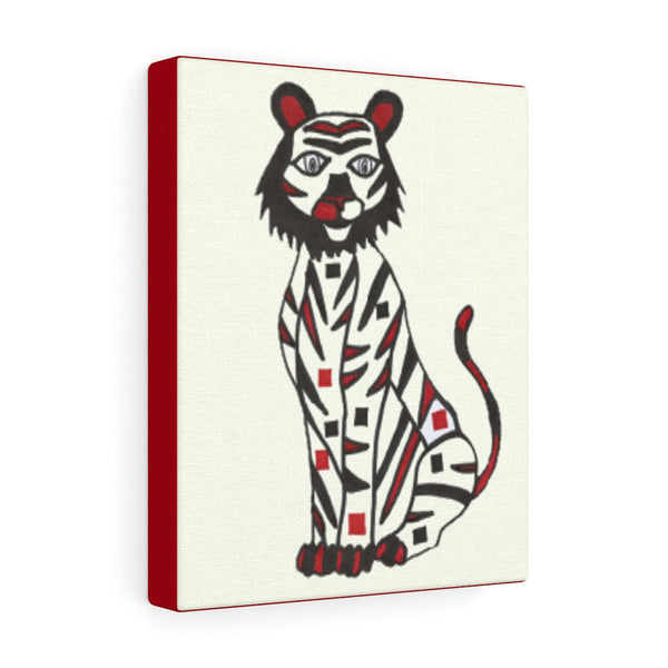 Infant Stimulation Art to Develop Your Baby's Brain- Black, Red and White Tiger