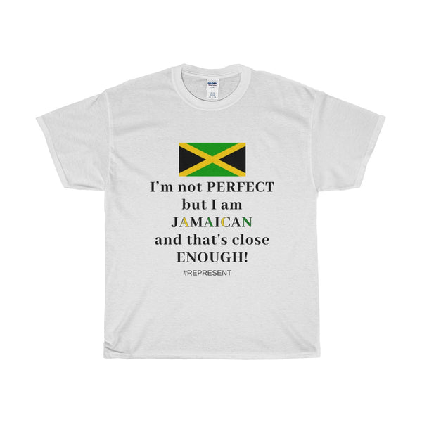 "Women's ""I'm Not Perfect But I Am Jamaican"" Cotton Tee"