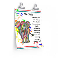 Elephant Animal Nursery/ Kid's Room Print 8.5 x 11